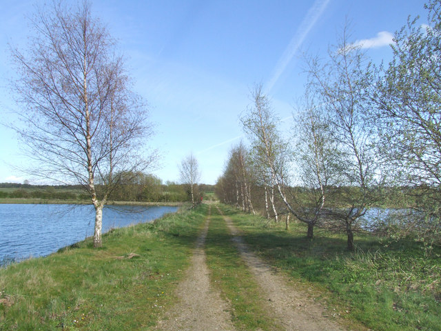 Bridle path and nature reserve near to Kirkby on Bain.