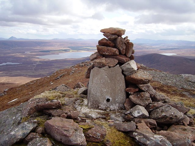 Old trig pillar - Ben Griam Beg