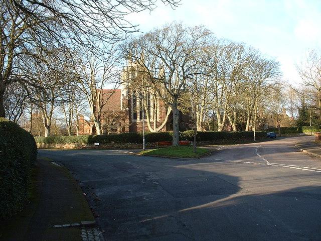 Rear of Saint Agnes Church, Moseley