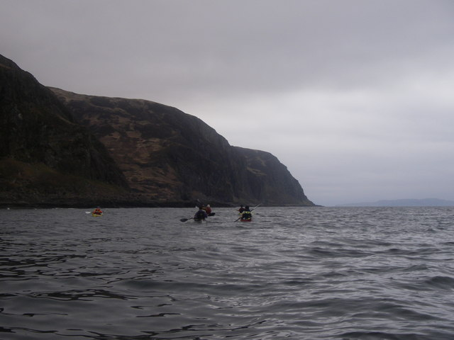Sea cliffs of Beinn na Sroine, Mull