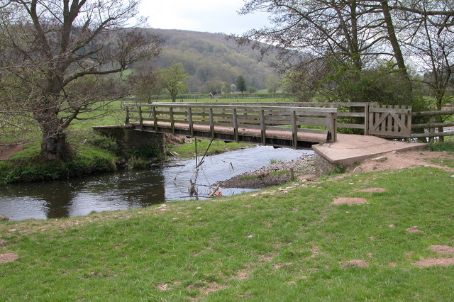 Footbridge over the River Clun, near Purslow