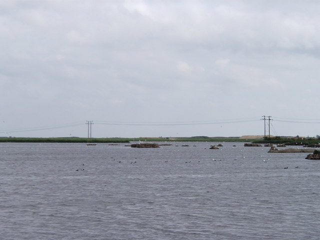 Flooded marshland, Stannets Creek, Paglesham
