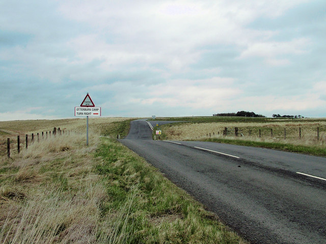 Turn right for Otterburn Camp