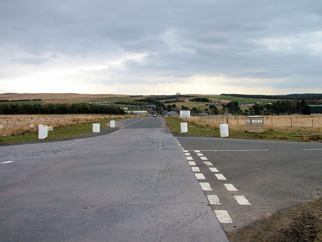 Approach to western entrance to Otterburn Camp