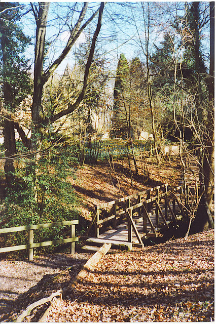 Footbridge  at Oakwood.