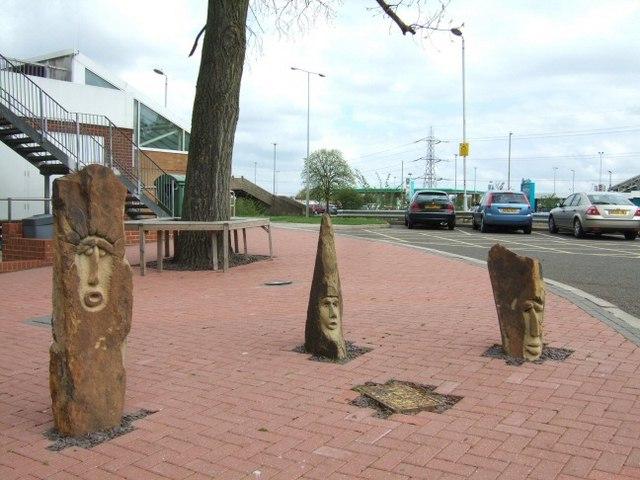 Statues at Toddington Services