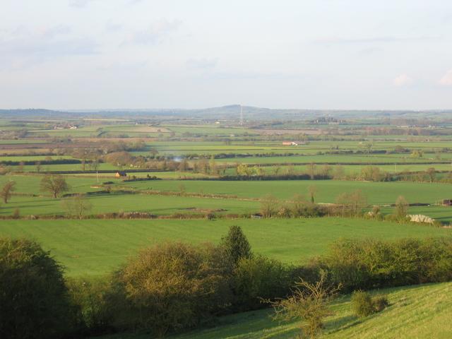 View NE from the Burton Hills