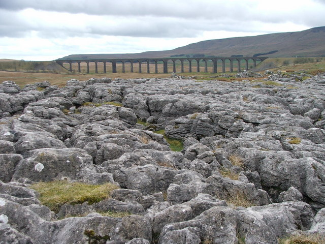 Ribblehead Viaduct and Limestone Pavement.