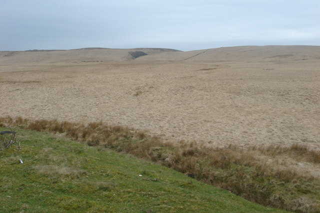Moorland seen from the A675 Belmont Road