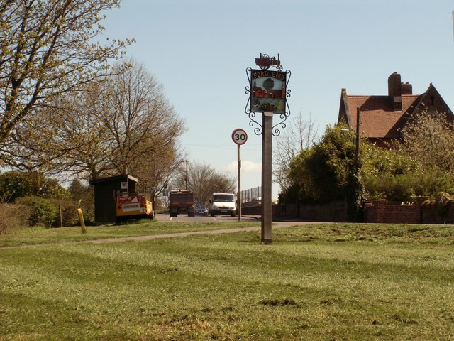 Village sign, Ford End, Essex