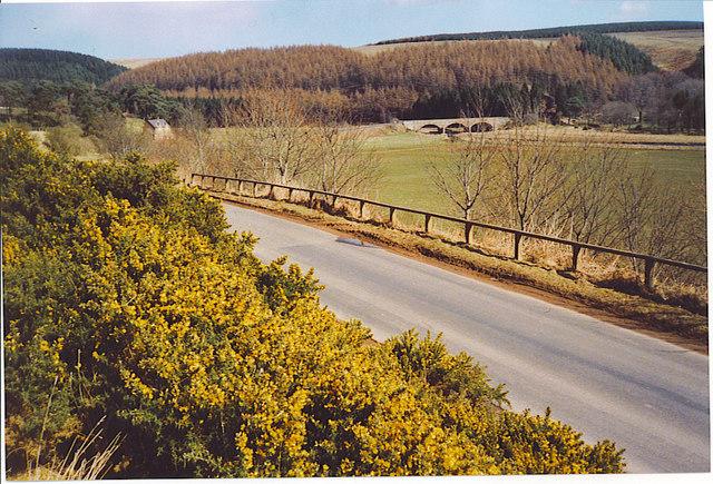 Ellemford Bridge and Whiteadder Water Valley