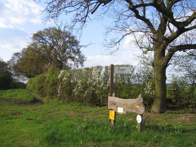 Roadside signs in Spernal Lane