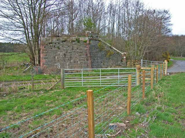 Old bridge abutment on the A75