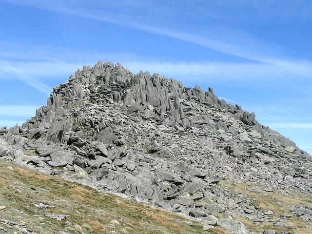 West side of Castell y Gwynt