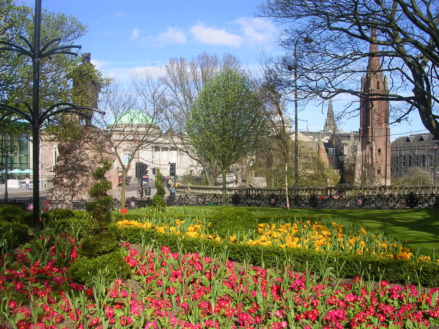Spring in Aberdeen City Centre