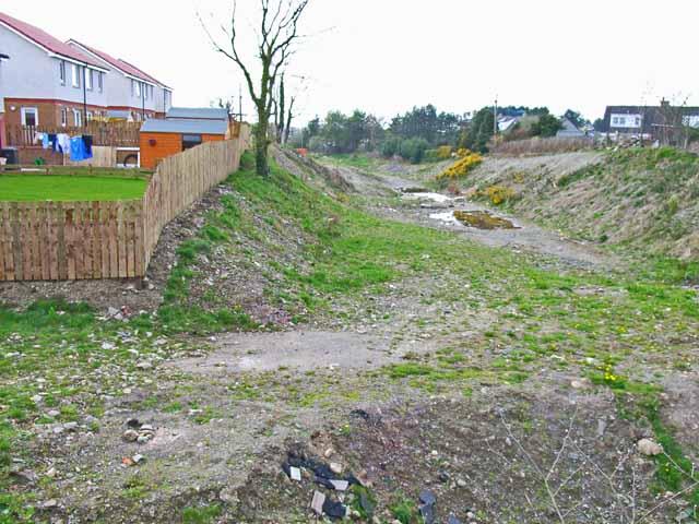 Site of old railway track,, Newton Stewart