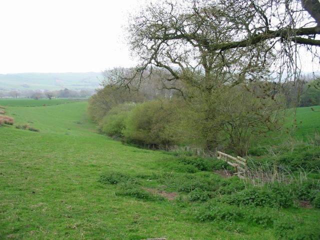 Farmland east of Hardown Hill