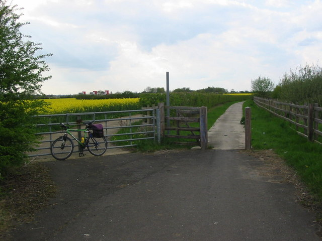 Track next to A15 near Glinton