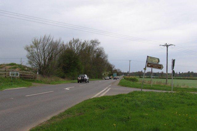 A6003 towards Oakham