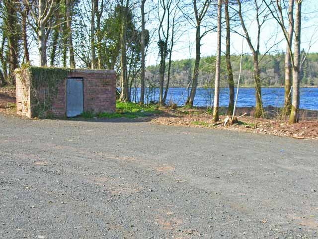 Anglers carpark at Whitefield Loch
