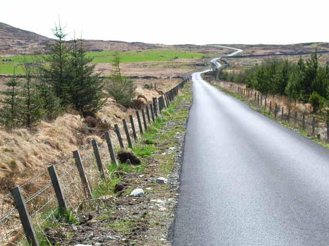 Moorland road at Culvennan