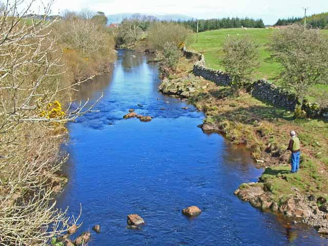 Fly fisherman on the Tarf Water