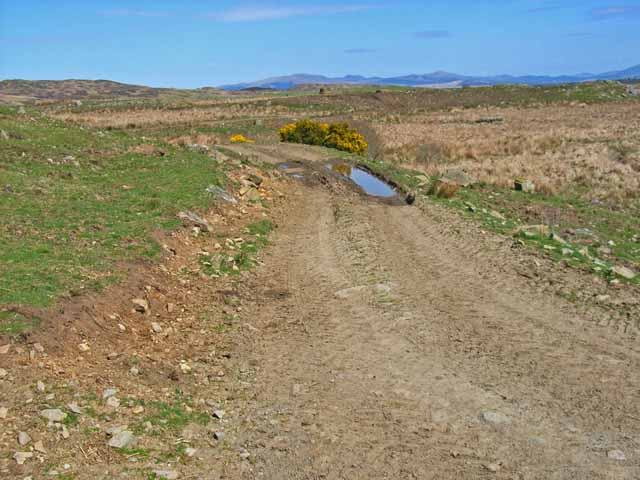 Moorland track near Culvennan Fell