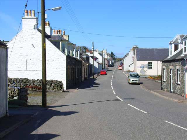 Village street, Kirkcowan