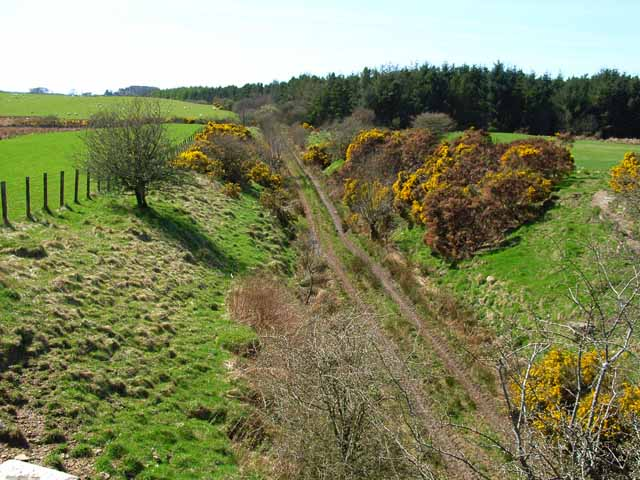 The old Dumfries to Stranraer railway