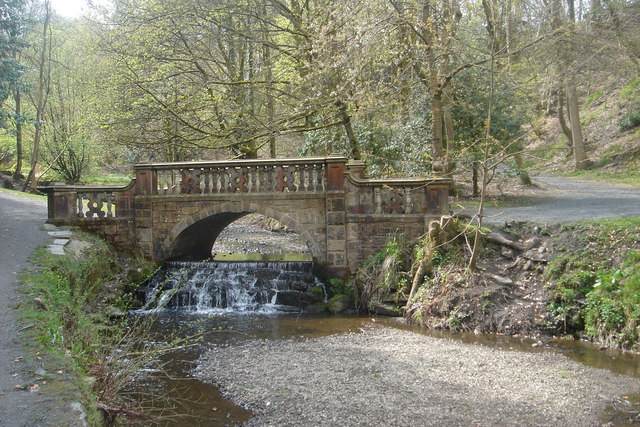 Bridge over the stream in Sunnyhurst Wood