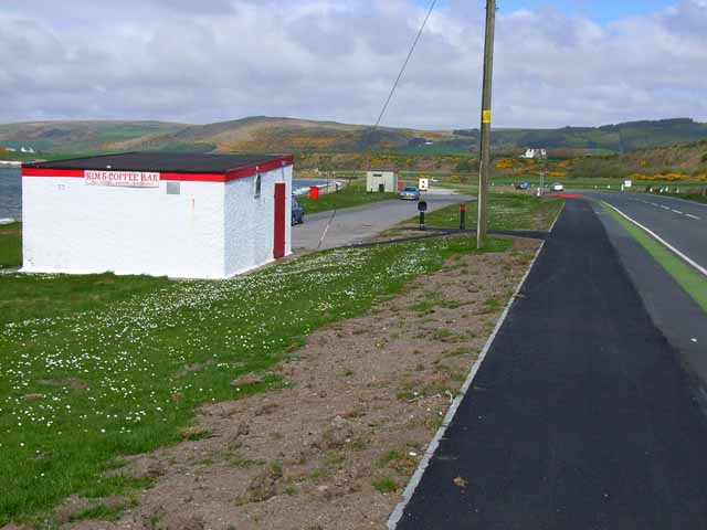 Car park and picnic site on the shores of Loch Ryan