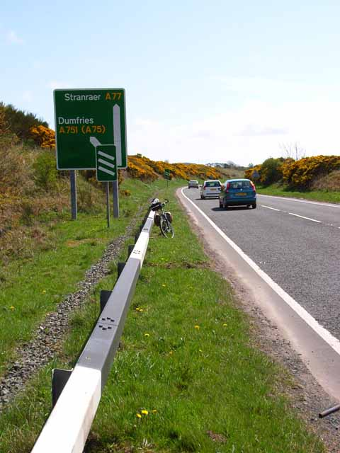 On the A77 north of Stranraer