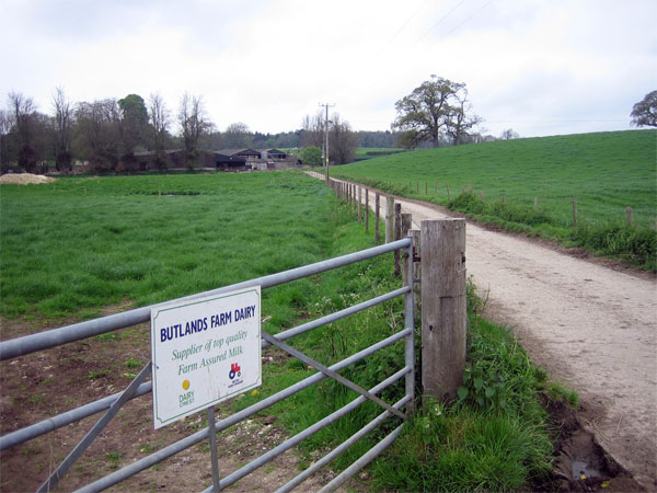 Entrance to Butlands Farm Dairy, Bloxworth