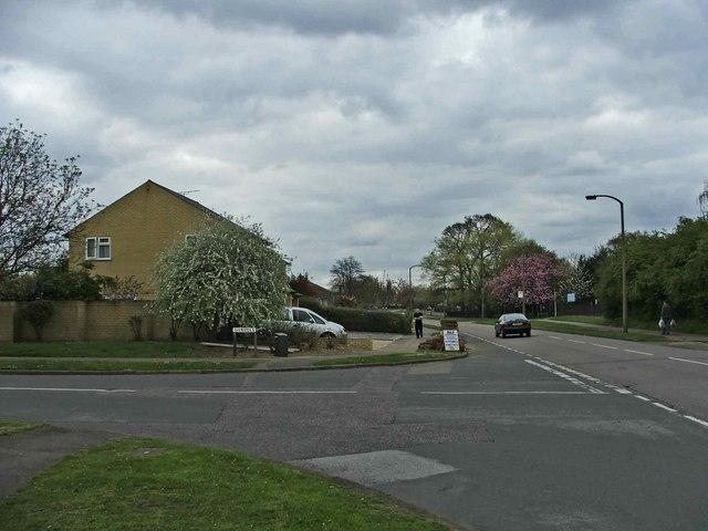 Junction of Daniells and Herns Lane, Welwyn Garden City, Hertfordshire
