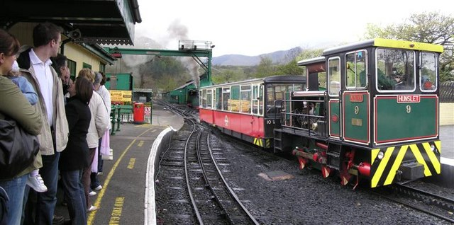 Waiting for the train at Llanberis SMR Station