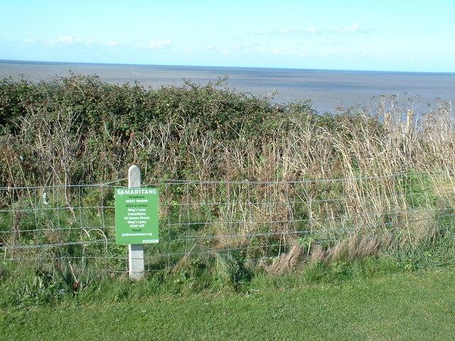 Edge of Hunstanton cliffs.
