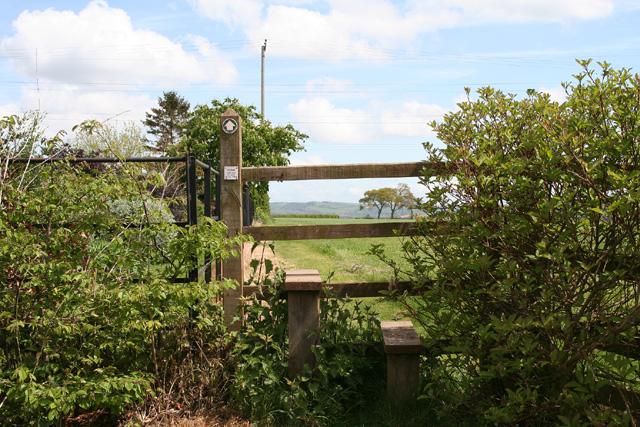 Norton Fitzwarren: stile at Heathfield