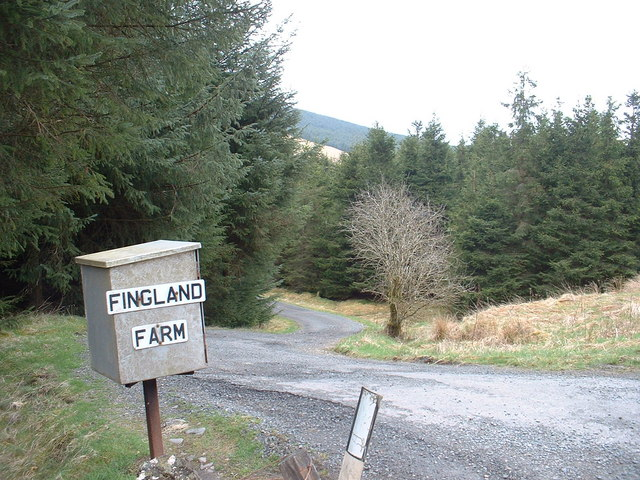 The track to Fingland Farm