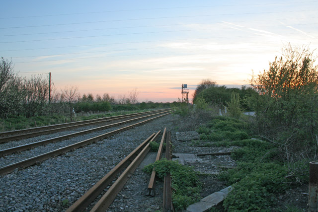 Railway line at dusk