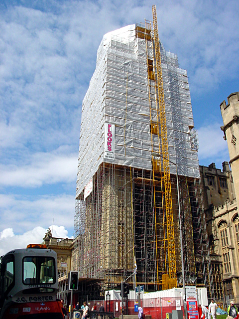 The Wills Memorial Tower Under Repair