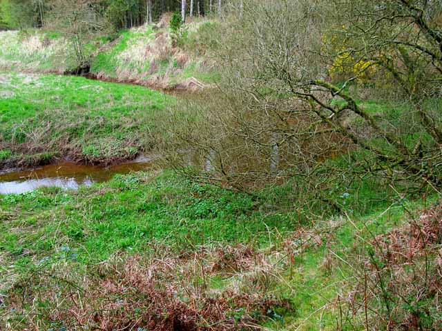 Bend in the lower reaches of the Piltanton Burn