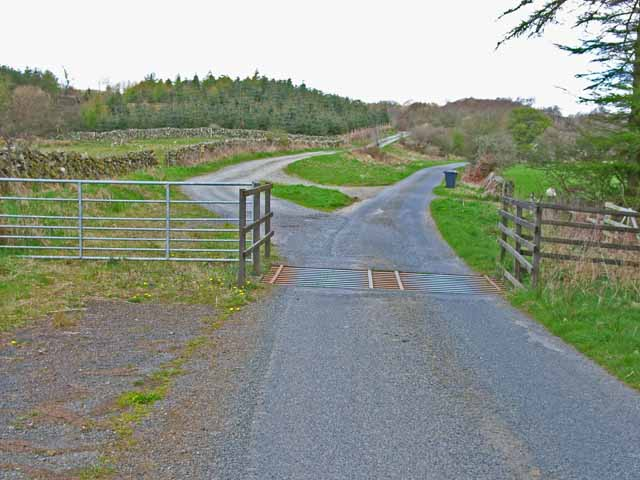 Cattle grid on the New Luce to Penwhirn road