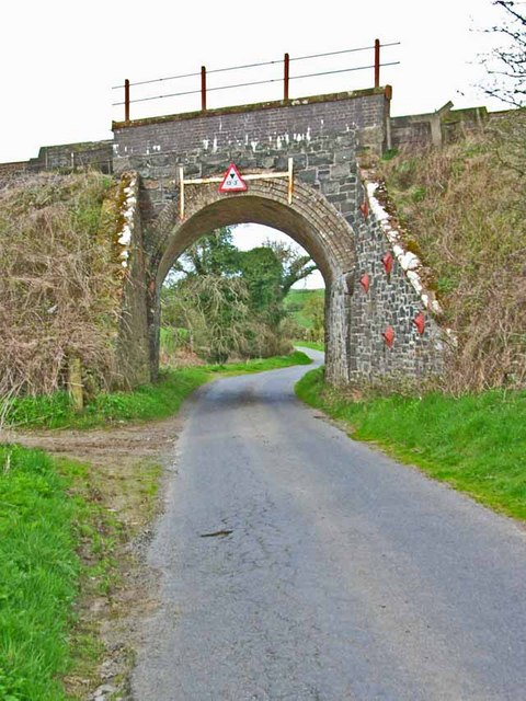 Railway bridge over the back road from the A75 to Glenluce Abbey