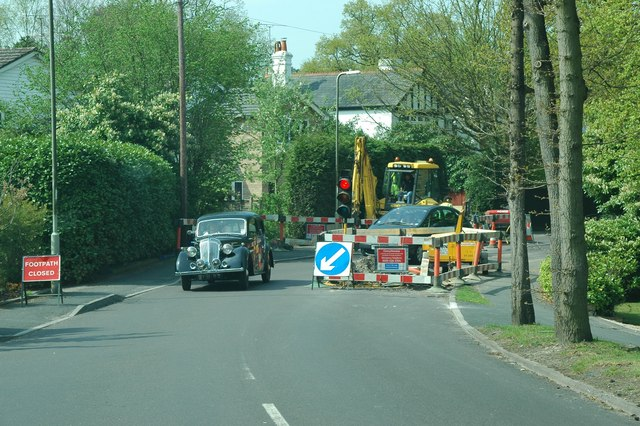 Roadworks in Fleet suburb