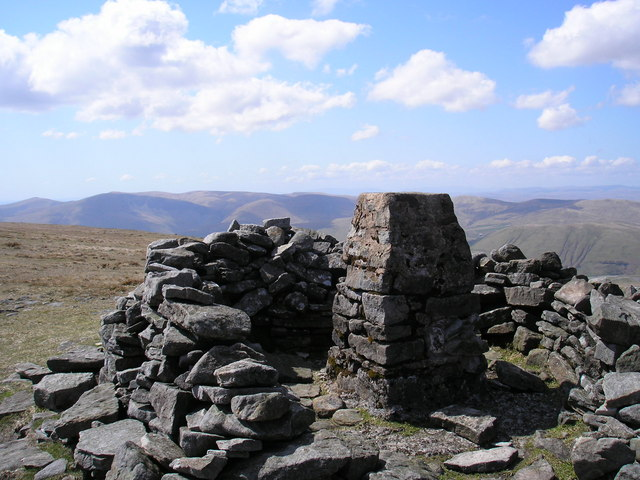 Wild Boar Fell trig point