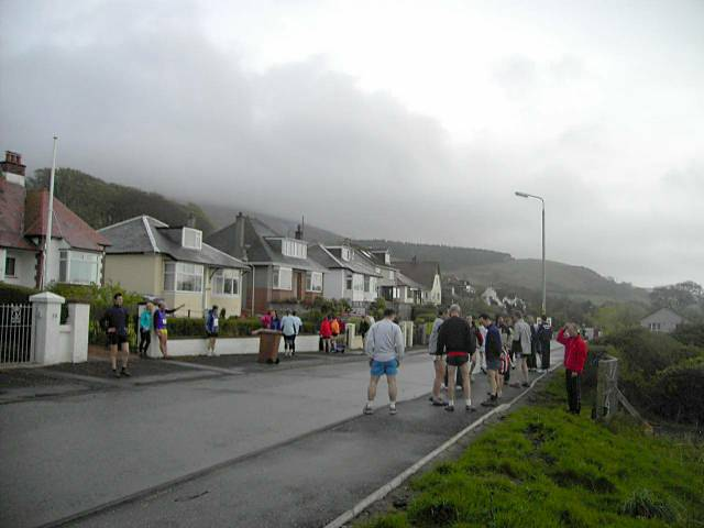 Castle Park Drive, Fairlie on the evening of the Kaim Hill Race