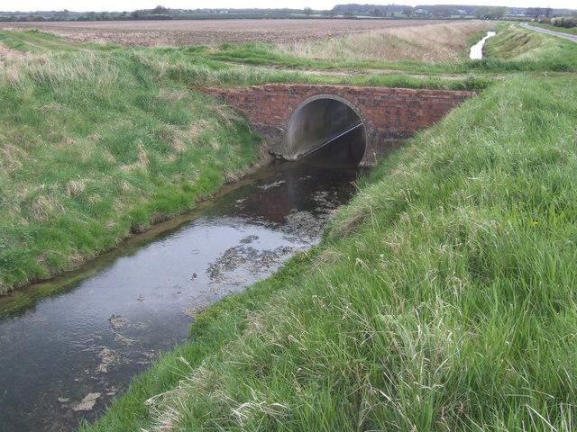Bridge over dyke.