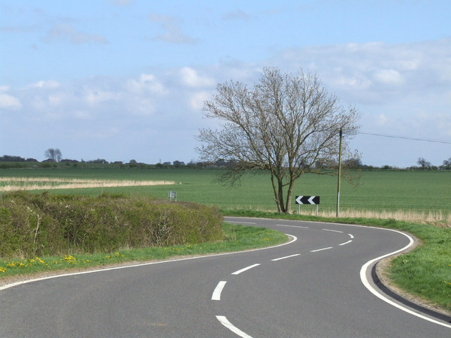 Bends on the B1190.