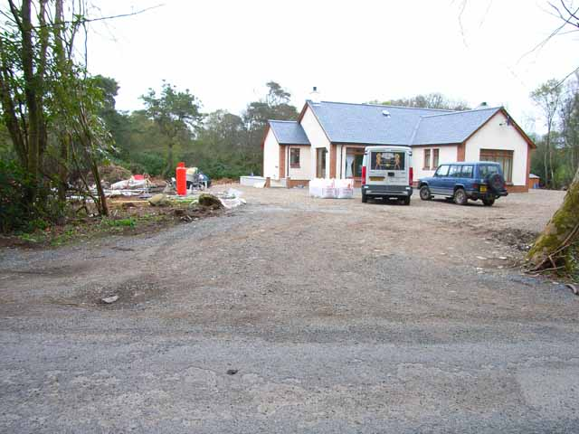 New bungalow near Lochnaw Castle