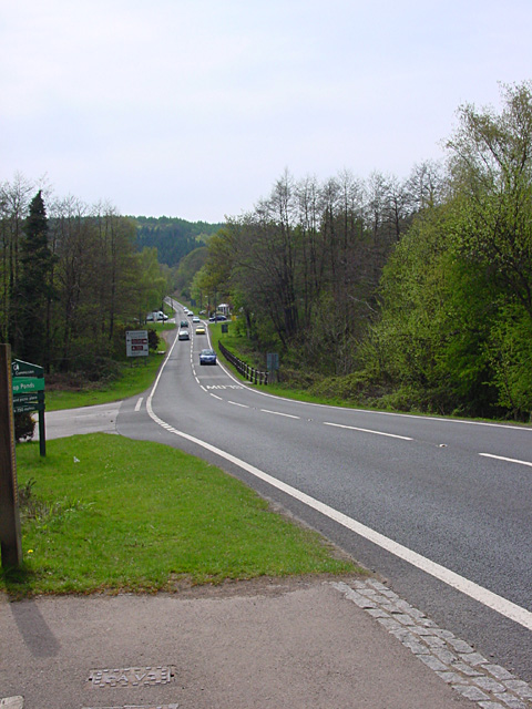 Looking  west along the B4226